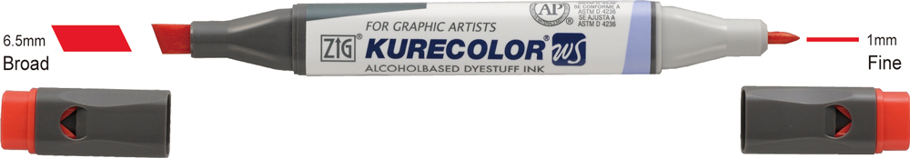 Sand Zig Kurecolor Twin Graphic Marker Pack of 3